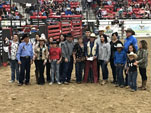 Ed Hall and the Three Affliated Tribes Gabe the saddle bronc Champion
