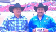 Daryl Boyd and Alfred Armajo Jr, Sr Team Roping Champions